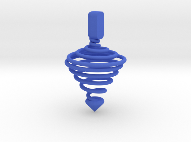 Functional Spinning top  in Blue Strong & Flexible Polished