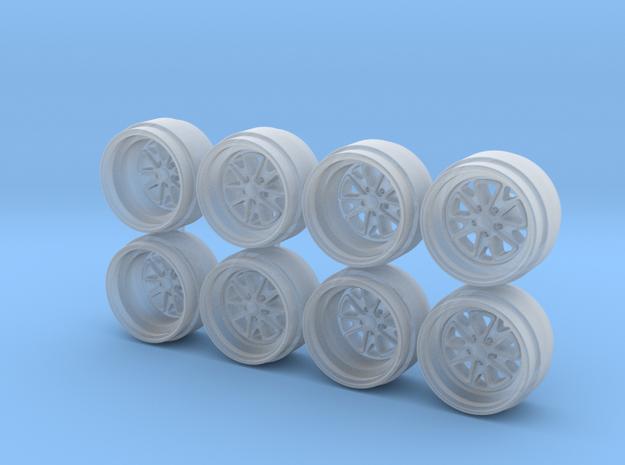 OL Fuchs Hot Wheels Rims 9mm in Smoothest Fine Detail Plastic