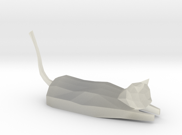 Decorative low-poly cat
