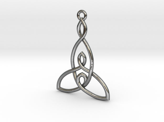 Mother and Two Children Knot Pendant