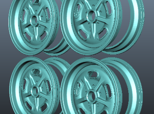 1/8 scale Wheel set 3d printed