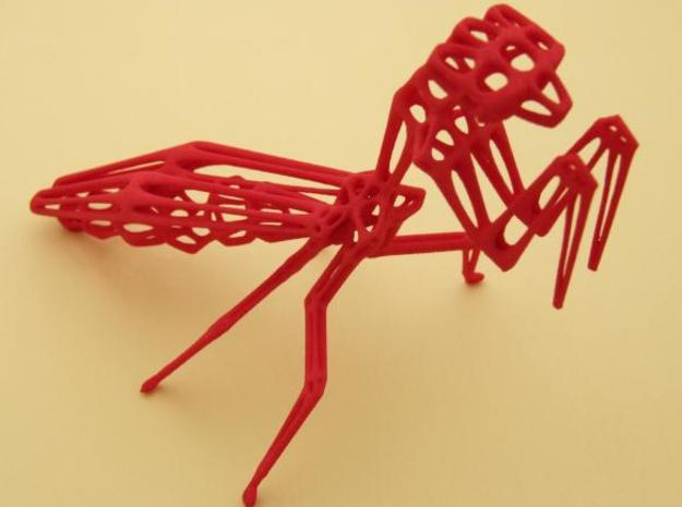 Praying Mantis 3d printed Winter red strong & flexible photo