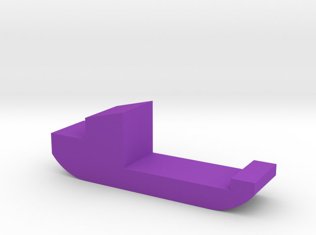 Freight Ship Game Piece in Purple Processed Versatile Plastic