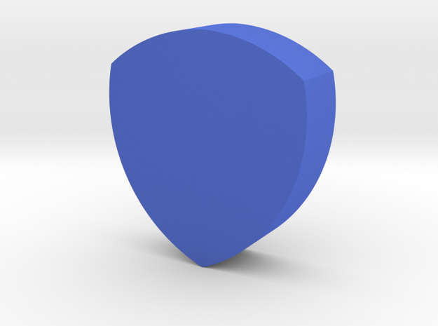 Shield Game Piece in Blue Strong & Flexible Polished