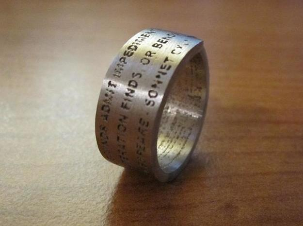 Sonnet Ring 3d printed Sonnet Ring Polished