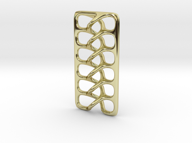 Intertwine pendant in 18k Gold Plated Brass