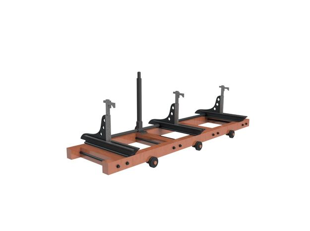 HO sawmill carriage in Smoothest Fine Detail Plastic