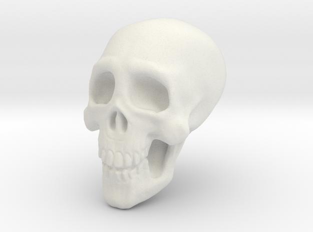Tiny Skull in White Natural Versatile Plastic