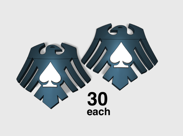 60x Raven Ace : Shoulder Insignia pack in Frosted Ultra Detail