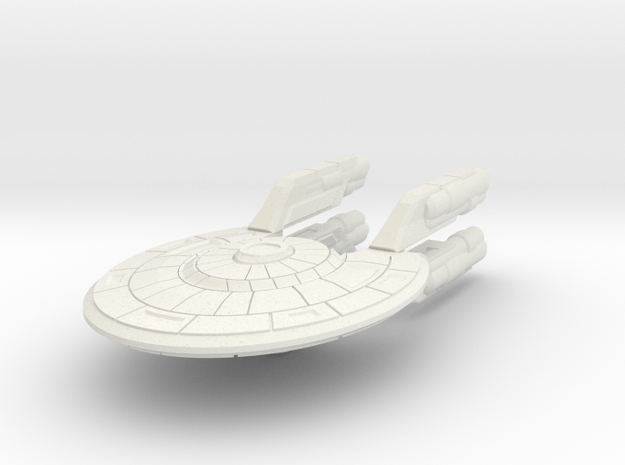 Colonial Fast Corvette (no Turrets) in White Natural Versatile Plastic