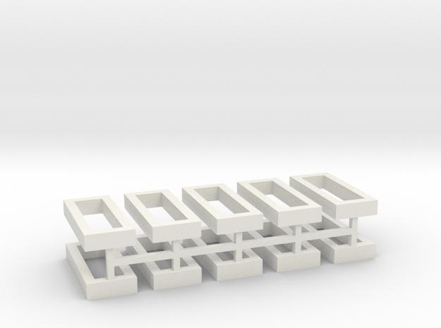 Hecke geschlossen für Grabeinfassungen 10erSet 1:1 in White Natural Versatile Plastic