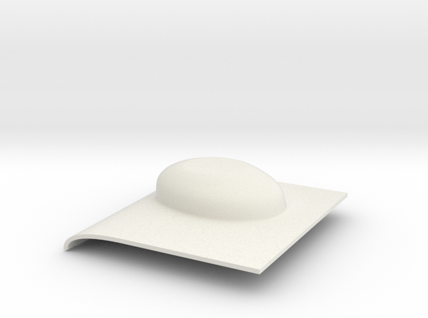 Tail gearbox cover in White Natural Versatile Plastic