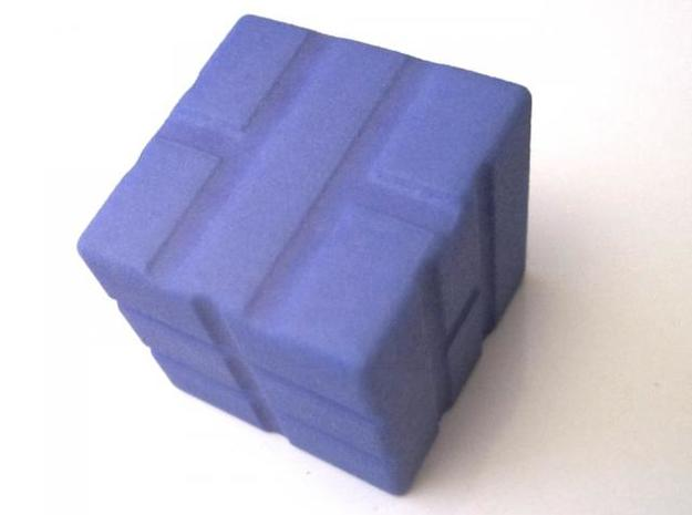 D6 Solid Tiles Dice 3d printed Indigo Strong & Flexible