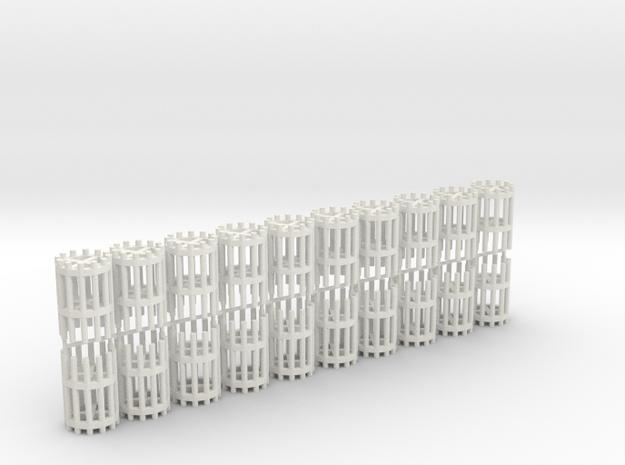 Duckdalben 12er rund mit Innenstreben 20erSet 1:12 in White Natural Versatile Plastic