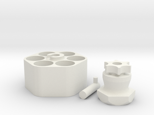 Speed Loader - All Parts in White Natural Versatile Plastic