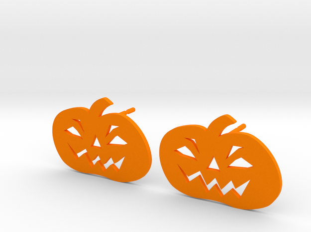 Jack-O-Lantern Earrings in Orange Processed Versatile Plastic