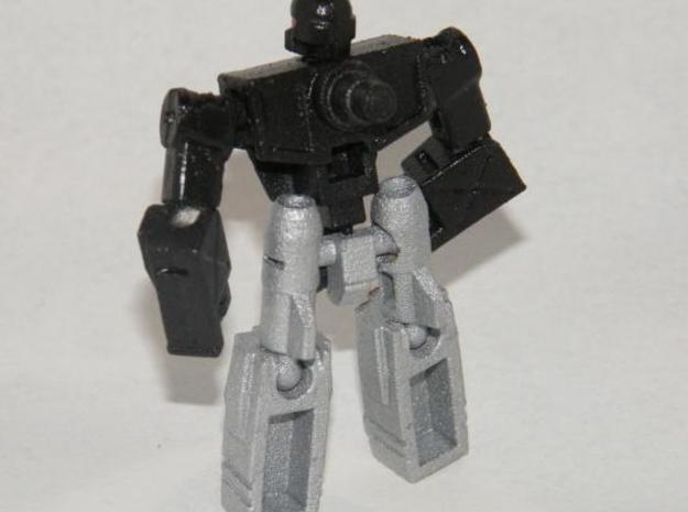"""Sparks"" Gunslinger figure 3d printed Robot mode, rear view, equipped with the dual 5/4mm peg handle"