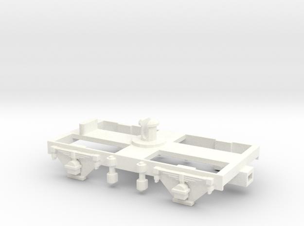 """GWR Dean 8' 6"""" Bogie in White Processed Versatile Plastic"""