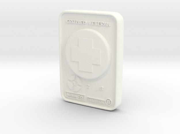 Grizzled Veteran - Medic in White Processed Versatile Plastic: Medium