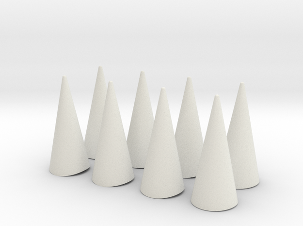 """Spikes Only - for bent cuff 2.5""""x1.5"""" in White Natural Versatile Plastic"""