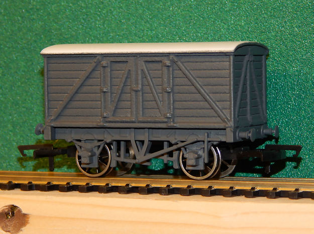 00 GWR Outside Framed 8T Goods Van Body in White Processed Versatile Plastic