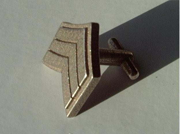 Sergeant Chevron Cufflinks in Stainless Steel