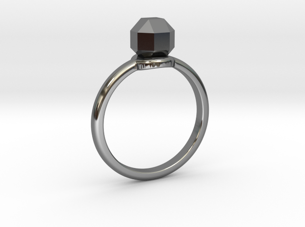 The ring with a diamond 1 carat