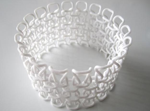Bracelet test 1.5 mm 3d printed In White Strong and Flexible