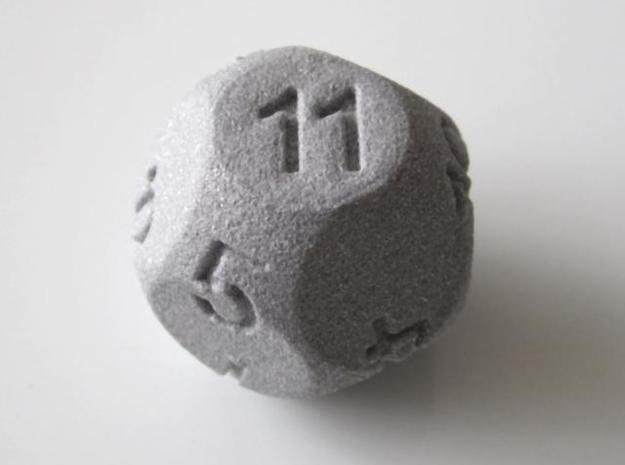 D11 Sphere Dice 3d printed In Alumide.