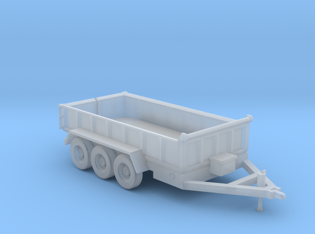 14-Foot Tridem Dump Trailer - Parked in Smooth Fine Detail Plastic