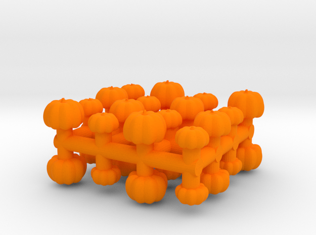 1/87 Scale Pumpkins x32 in Orange Strong & Flexible Polished