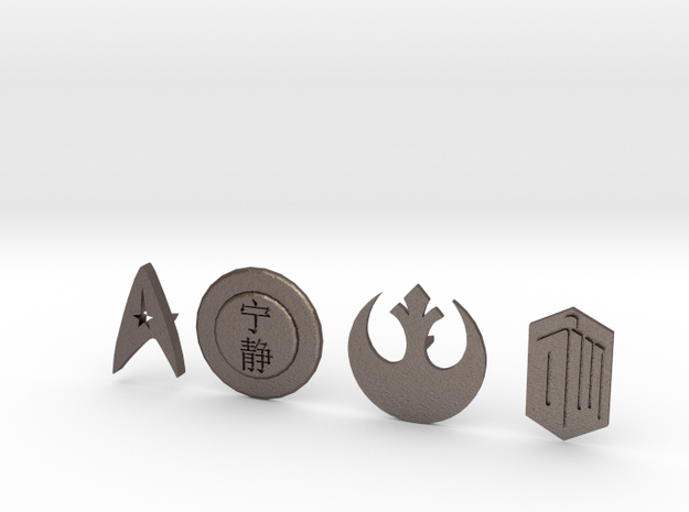 SciFi pins in Stainless Steel