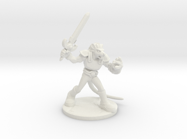 Ch'dar-O Lord of the ThunderRats in White Natural Versatile Plastic: Small