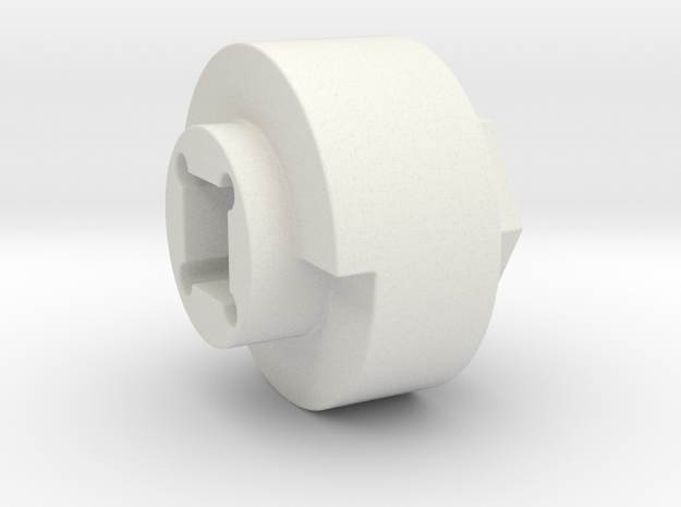 DX4 wheel adapter BS=19mm in White Natural Versatile Plastic