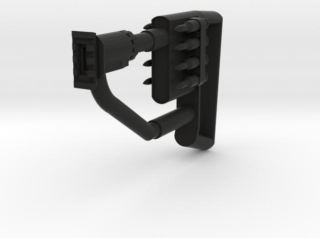 Quickshot Shoulder Stock with Mock Bullets in Black Natural Versatile Plastic
