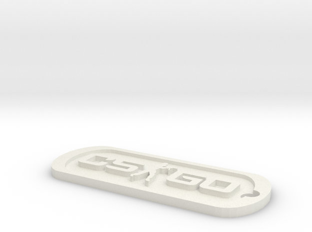 CS:GO Dog Tag in White Natural Versatile Plastic