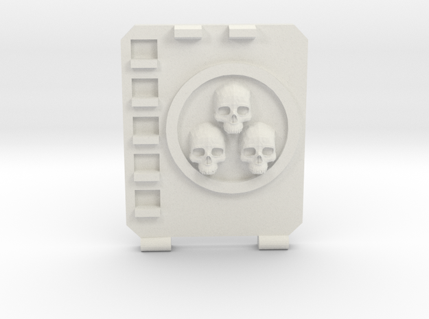 APC hatch Right [Triple  skull] in White Natural Versatile Plastic