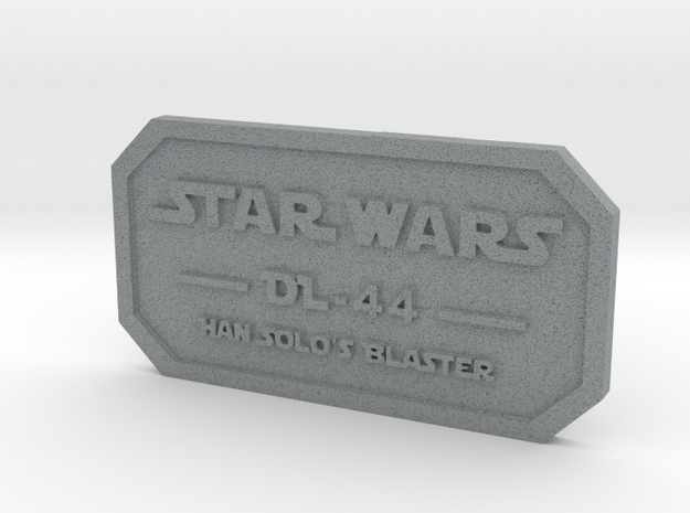 Label for DL-44 in Polished Metallic Plastic