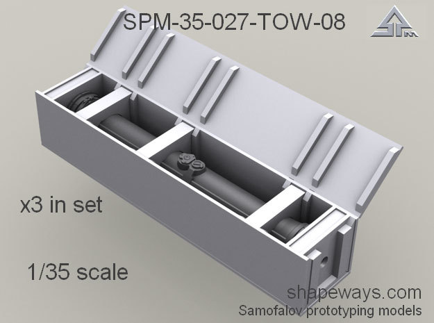 1/35 SPM-35-027-TOW-08 Wooden crates for TOW missi in Smoothest Fine Detail Plastic