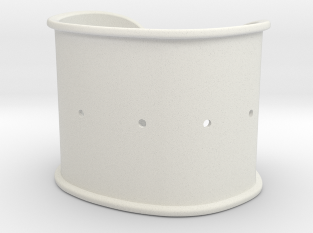 """Cuff Band Only - Bent (for wrists 2""""x1.25"""") in White Natural Versatile Plastic"""
