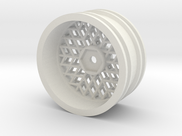 Lattice6 in White Natural Versatile Plastic