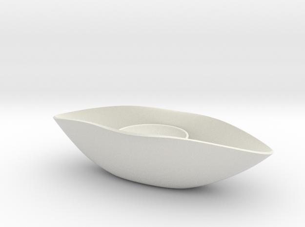 "BK-14: ""Eye Amulet (Clepsydra)"" by C. Woolard in White Natural Versatile Plastic"