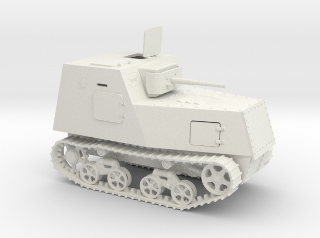 1/72nd scale KHTZ-16 soviet armoured tractor in White Strong & Flexible
