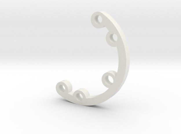 Rad fin 2 in White Natural Versatile Plastic