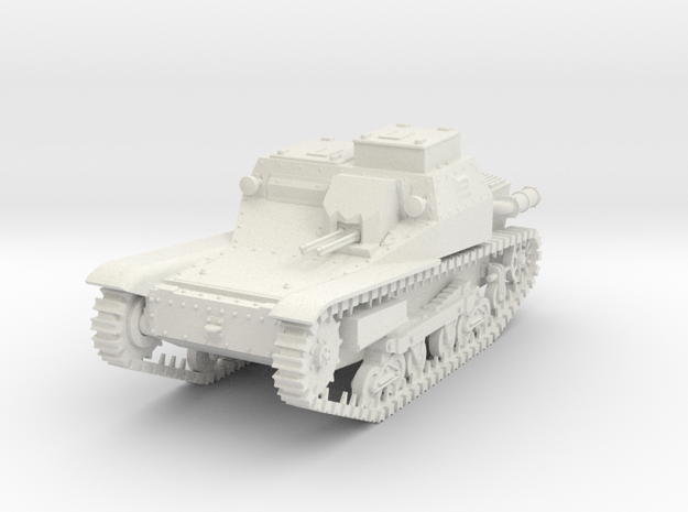 1/72nd scale 35M Ansaldo tankette with commander c in White Strong & Flexible