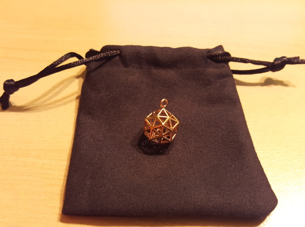 Pendant_ Cuboctahedron-Icosahedron in Polished Brass