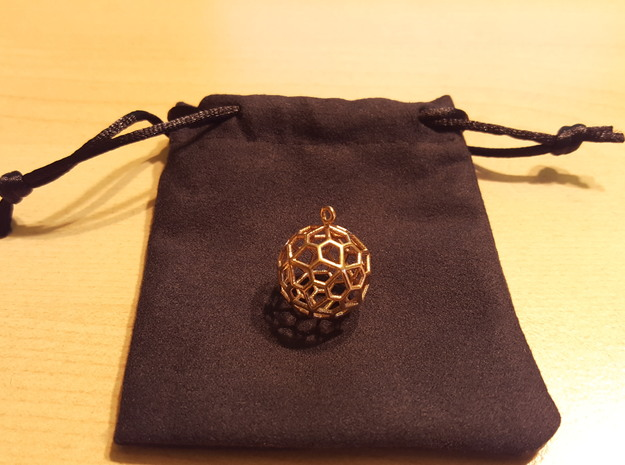 Pendant_Pentagonal-Hexecontahedron in Polished Brass