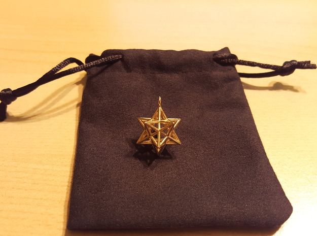 Pendant_Pentagram-Dodecahedron in Polished Brass
