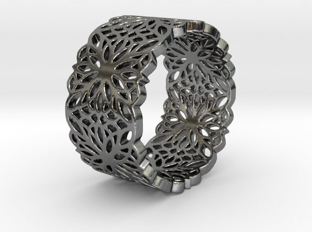 FAVORITE LACE Ring Design Ring Size 8.75 in Fine Detail Polished Silver
