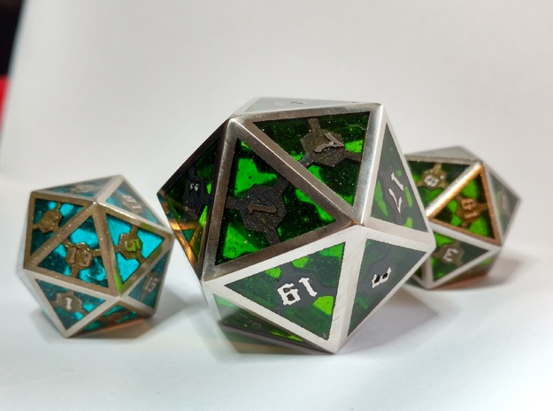 D20 Epoxy Dice extra large edition
